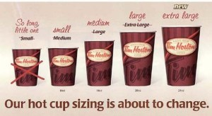 Tim Hortons Cup Sizes