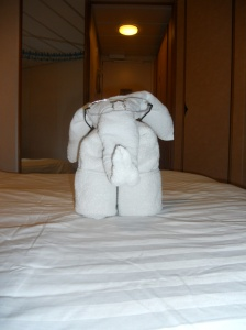 One of the towel animals our room guy left for us