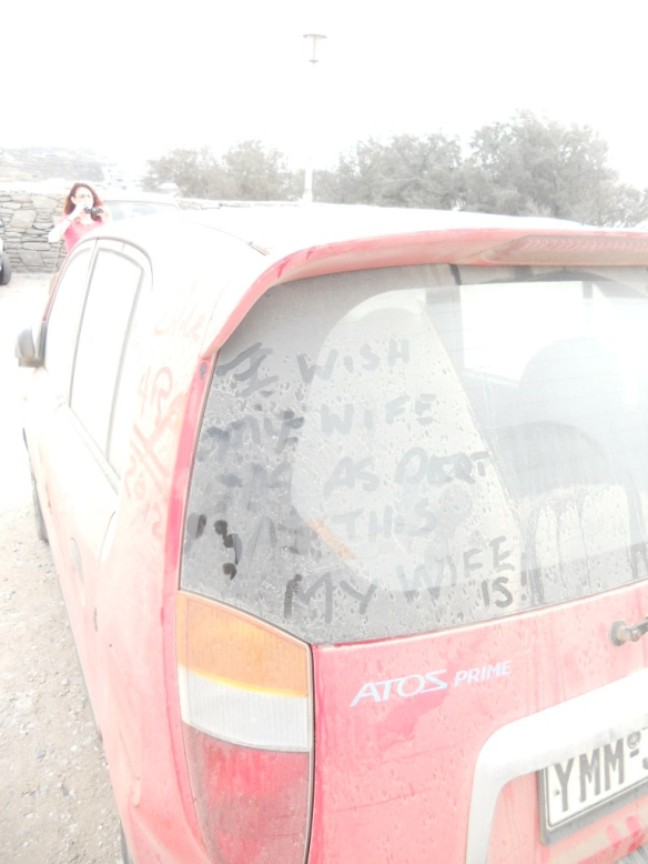 "I love the two additions here...""I wish my wife was as dirty as this car,"" and the answer, ""My wife is."""