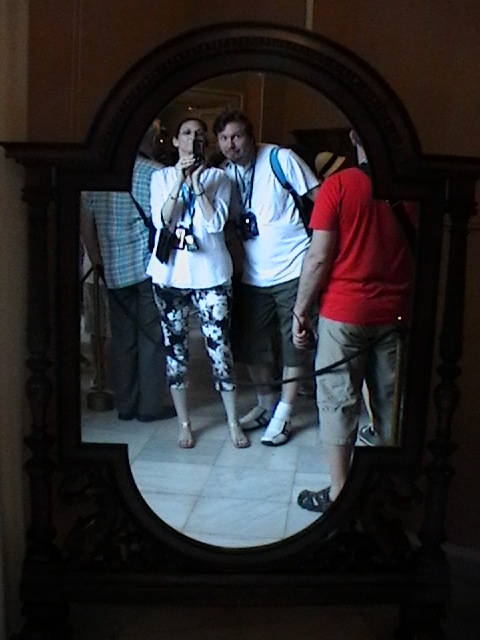 Catching ourselves in a mirror