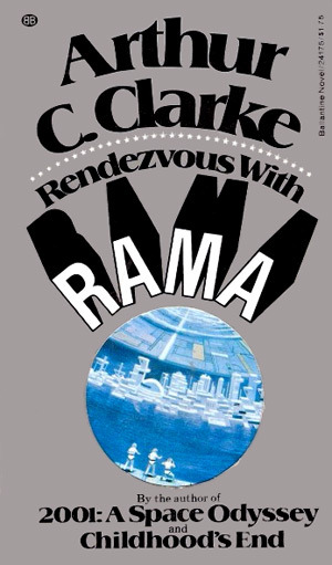 Rendezvous With Rama - with its cool die-cut cover in paperback